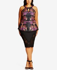 City Chic Trendy Plus Size Peplum Top Holly