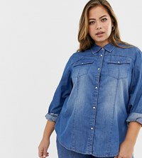 Zizzi Denim Shirt Blue