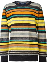 Junya Watanabe Comme Des Gara Ons Man Striped Crew Neck Jumper Multicolour