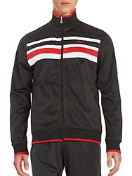 Fila Long Sleeve Striped Jacket Black