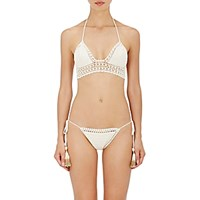 She Made Me Women's Essential Crochet Bralette Bikini Top Nude