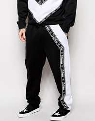 Jaded London Joggers With Taping Black