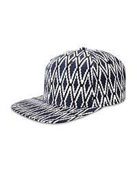 Gents Diamond Flat Brim Cap Blue
