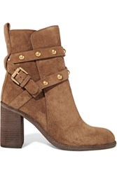 See By Chloe Studded Suede Ankle Boots Light Brown