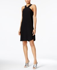 Armani Exchange Sleeveless Shift Dress Black