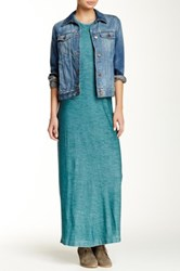 Go Couture Vintage Washed Sweater Dress Green