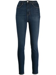 L'agence High Rise Skinny Jeans Blue
