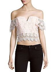 Yumi Kim Off The Shoulder Cropped Top Champagne
