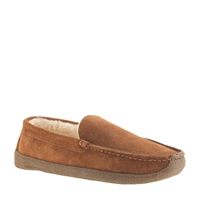 J.Crew Men's Shearling Slippers Cinnamon
