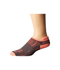 Wrightsock Stride Tab Ash Coral Low Cut Socks Shoes Gray