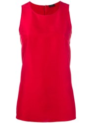 Joseph Classic Tank Top Women Silk 40 Red