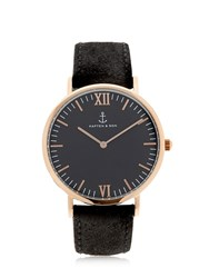 Kapten And Son 40Mm Vintage Leather Watch