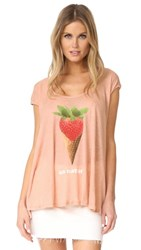 Wildfox Couture Au Naturel Tee Georgia Peach
