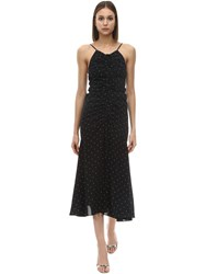 Alice Mccall Oscar Dot Print Viscose Midi Dress Black