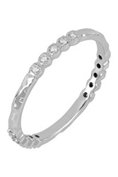 Bony Levy 18K White Gold Prong Set Diamond Stacking Band Ring 0.12 Ctw