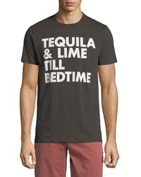 Chaser Bed Time Slogan Tee Black
