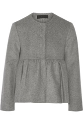 Co Wool And Cashmere Blend Peplum Jacket