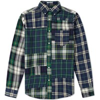 Gant Rugger Upcycled Patchwork Shirt Green
