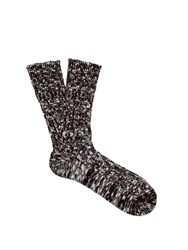 Undercover Melange Knit Cotton Blend Socks Black
