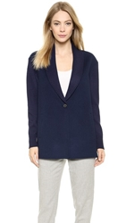 Vince Shawl Collar Wool Cardigan Blue Marine