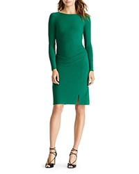 Ralph Lauren Petites Ruched Dress Regent Green