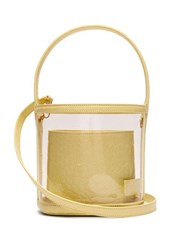 Staud Bissett Pvc And Leather Bucket Bag Yellow