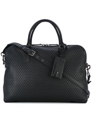 Valentino Garavani Rockstud Perforated Tote Women Leather Suede One Size Black