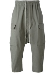 Rick Owens Cropped Cargo Trousers Grey
