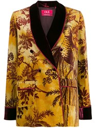 F.R.S For Restless Sleepers Foliage Patterned Textured Blazer 60