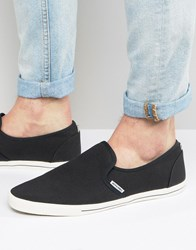 Jack And Jones Snake Slip On Plimsolls Black