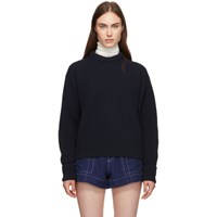 Chloe Navy Wool And Cashmere Sweater