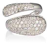 Roberto Marroni Women's Pave Split Band Ring No Color