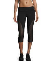 Alo Yoga Equalize Mesh Inset Capri Sport Leggings Black