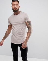 Religion Longline T Shirt In Light Pink Ashes Of Roses