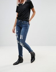Blank Nyc Charmed Life Destroyed Skinny Jeans Charmed Life Blue