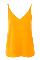 Topshop Tall Double Strap V Neck Camisole Top Marigold
