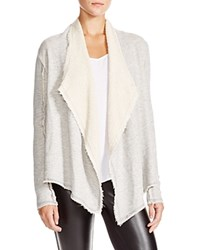 Nation Ltd. Nation Ltd Alana Draped Cotton Terry Cardigan Heather Grey
