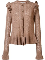 Ulla Johnson 'Amara' Cardigan Brown