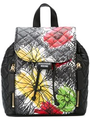 Boutique Moschino Floral Print Backpack Black