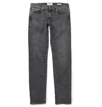 Frame Denim Badlands Slim Fit Washed Denim Jeans Gray
