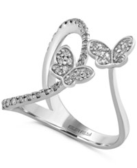 Effy Collection Effy Diamond Butterfly Ring 1 3 Ct. T.W. In 14K White Gold