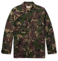 J.Crew Camouflage Print Cotton Blend Field Jacket Army Green