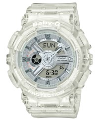 Baby G Women's Analog Digital Clear Resin Strap Watch 43.2Mm No Color
