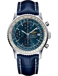 Breitling A1332412 C942732p Navitimer Automatic Stainless Steel And Crocodile Strap Watch