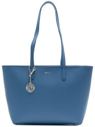 Donna Karan Medium Shopper Bag Calf Leather Blue