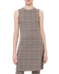 Akris Sleeveless Turtle Print Sheath Dress Elephant Women's