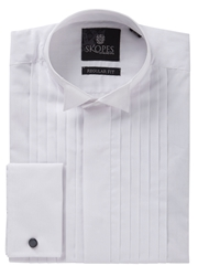 Skopes Long Sleeve Wing Collar Dress Shirt White