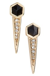 Jules Smith Designs Women's Jules Smith 'Good Instinct' Spike Earrings Yellow Gold Black