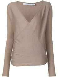 Callens Wrap Jumper Brown