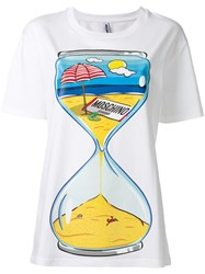 Moschino Swim Hourglass Print T Shirt White